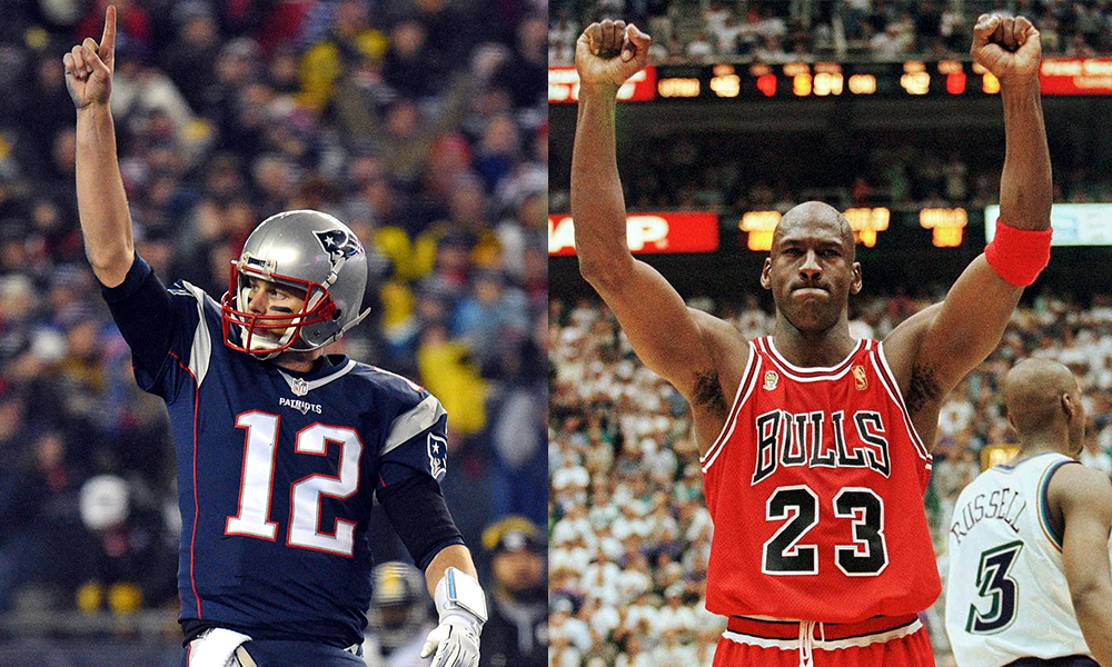 Can Tom Brady Pass Michael Jordan Sunday?