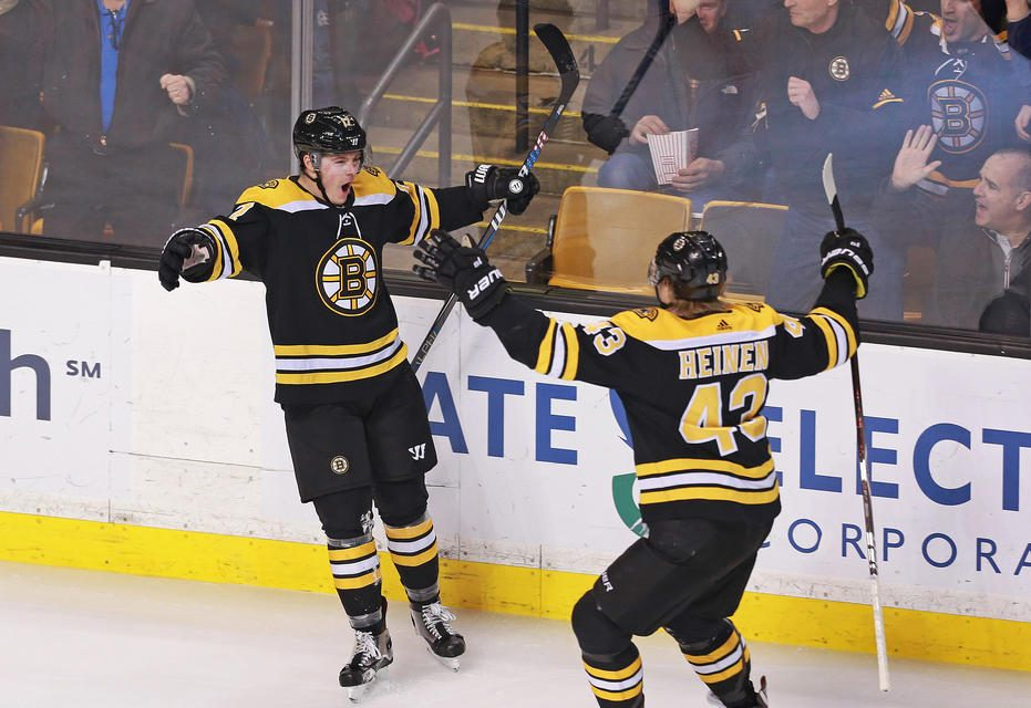 Why the Danton Heinen signing is great for the Boston Bruins