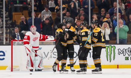Boston Bruins Throttle Red Wings 8-2