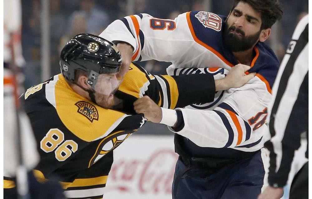 Boston Bruins Win 4-1 Against Oilers