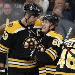 David Pastrnak Scores Hat Trick; Bruins Defeat Toronto 5-1