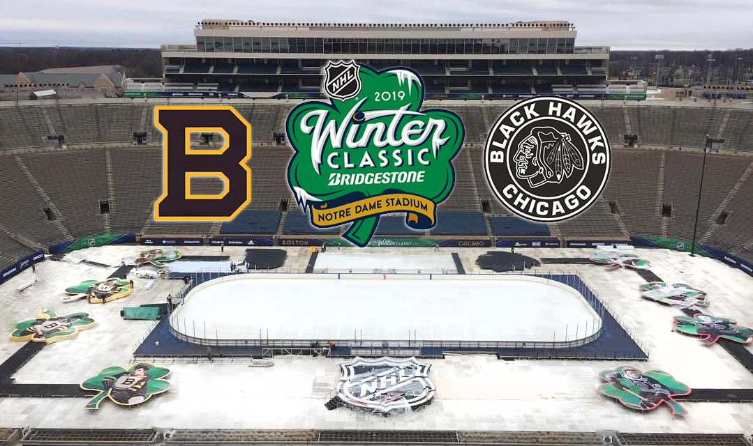 Weather improves for Blackhawks-Bruins Winter Classic at Notre Dame Stadium