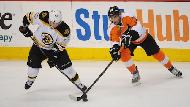 Boston Bruins face Philadelphia Flyers