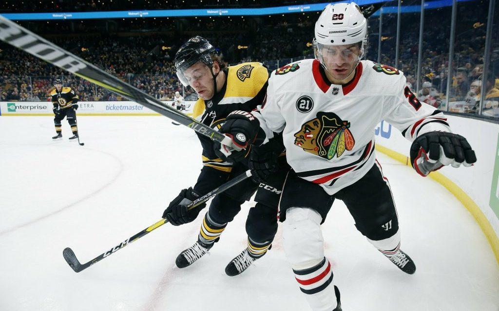 Bruins End Blackhawks Winning Streak