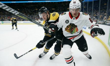 Bruins End Blackhawks Winning Streak