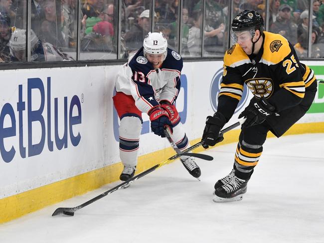 Boston Bruins vs Columbus Blue Jackets