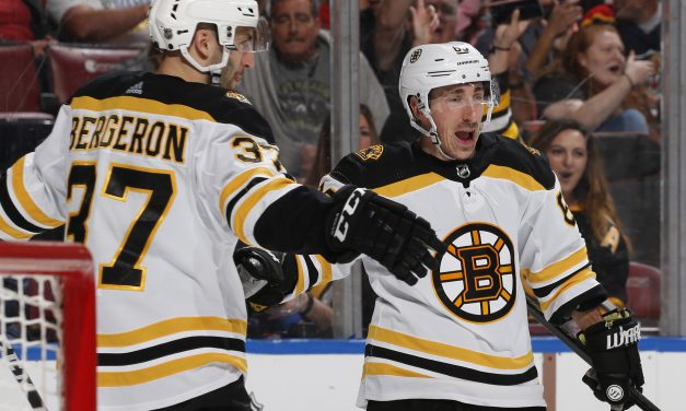 Boston Bruins Clinch Home Ice; Marchand Hits 100