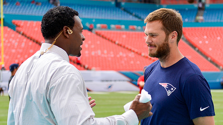 """I never imagined playing one year of pro football"" Tom Brady tells Willie McGinest"