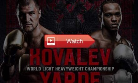 watch Sergey Kovalev vs Anthony Yarde Live Stream Reddit Free Online HD
