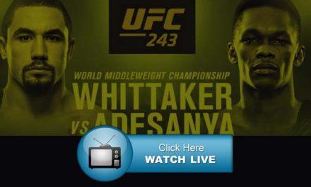 UFC 243 Live Streams Reddit
