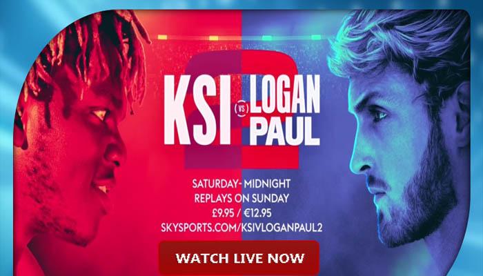 KSI vs Logan Paul 2 Fight online
